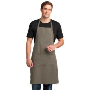 Port Authority A700 Easy Care Extra Long Bib Apron with Stain Release Thumbnail