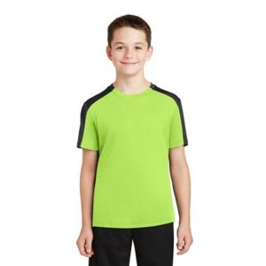 Youth PosiCharge ® Competitor ™ Sleeve Blocked Tee Thumbnail