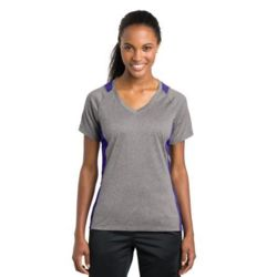 Ladies Heather Colorblock Contender ™ V Neck Tee Thumbnail