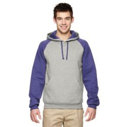 Jerzees 96CR Adult 8 oz. NuBlend® Colorblock Raglan Pullover Hood Thumbnail