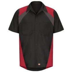 Red Kap SY28 Tri-Color Short Sleeve Shop Shirt Thumbnail