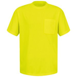 Red Kap SY06 Enhanced Visibility T-Shirt with a Pocket Thumbnail