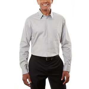 Calvin Klein 13CK027 Men's Micro Herringbone Long Sleeve Shirt Thumbnail