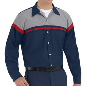 Red Kap SP14AC Automotive Performance Tech Long Sleeve Shirt  Thumbnail