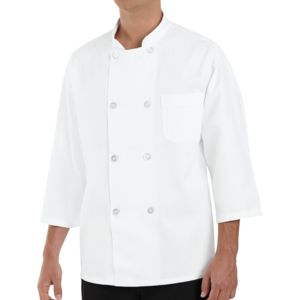 Chef Designs 0402 Three-Quarter Sleeve Chef Coat Thumbnail