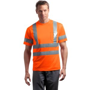 CornerStone CS408 Ansi 107 Class 3 Short Sleeve Snag Resistant Reflective T Shirt Thumbnail