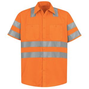 Red Kap SS24OF High Visibility Safety Short Sleeve Work Shirt Thumbnail